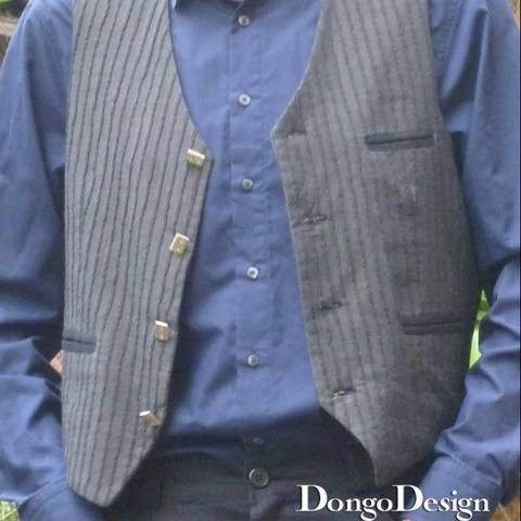 PDF sewing Pattern E-Book Men's Waistcoat Horacio