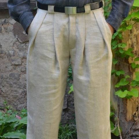 PDF sewing Pattern E-Book Men's Pleated Trousers