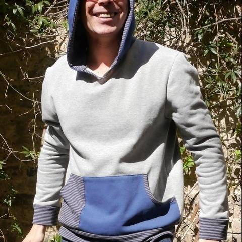 PDF sewing Pattern E-Book Men`s Pullover Huomo