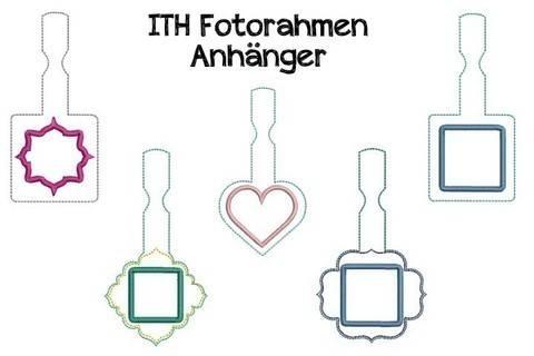 ITH Stickdatei - Anhänger Fotorahmen in PES