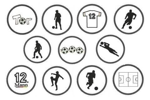 ITH Stickdatei Untersetzer - Fußball Silhouette - in PES