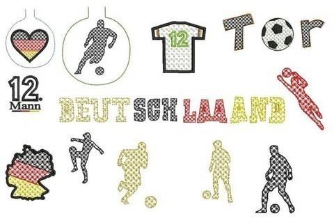 ITH Stickdatei Lichterketten Cover - Fußball Deutschland in PES
