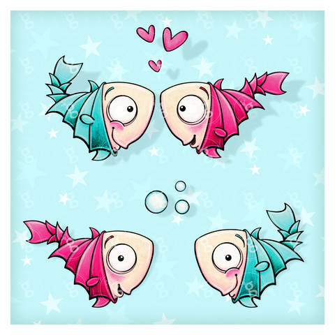 "digi stamp set ""fishes"" bei Makerist"