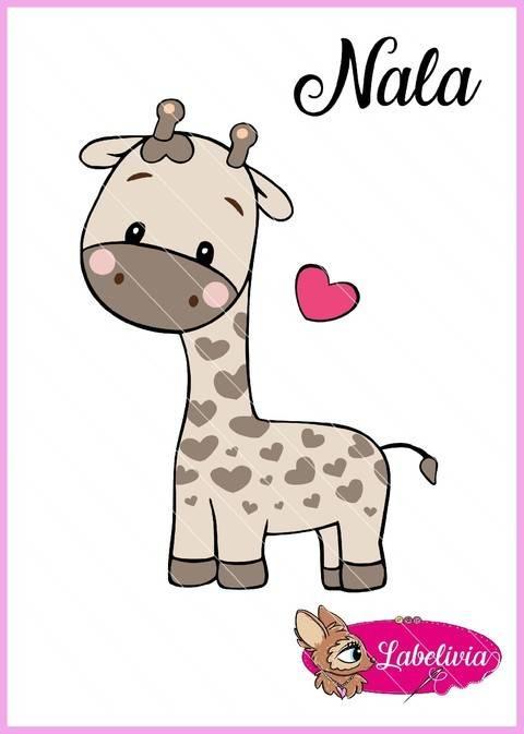 Plotterdatei Giraffe Nala