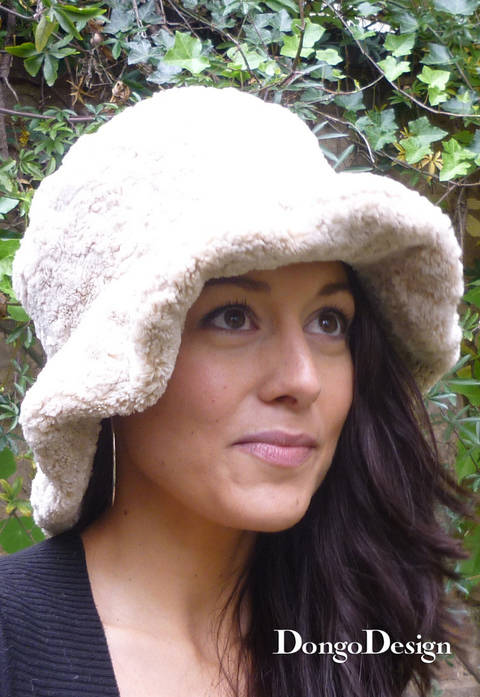 PDF sewing pattern Cuddly Hat PDF File with E-Book Sewing instructions