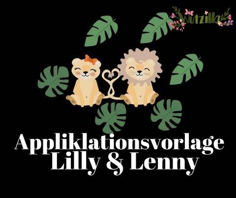 Lilly & Lenny Löwe Applikationsvorlage