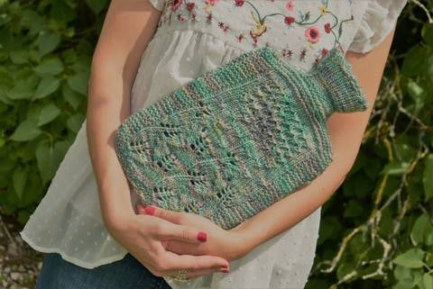 Basswood flowers and Starling - Hot water bottle cover at Makerist