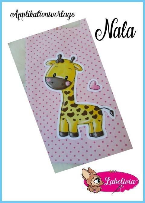 Applikationsvorlage Giraffe Nala