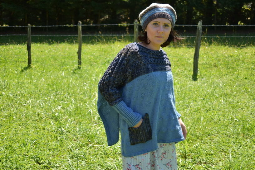 Elderberry Poncho - pattern to knit Poncho at Makerist - Image 1
