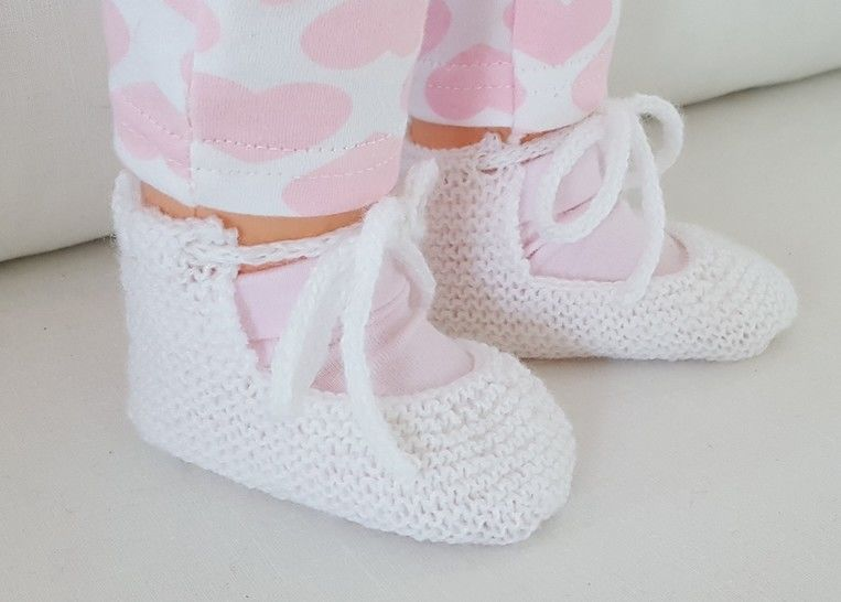 Baby's high back garter stitch shoes - Ava at Makerist - Image 1