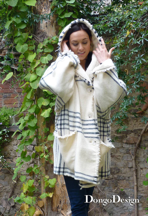 PDF sewing pattern EBook Hooded Paletot  with instructions