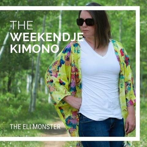Kimono PDF Sewing Pattern Sized XS to 3X