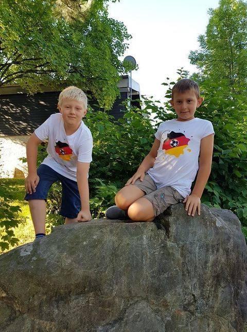 Fussball im Tintenklecks Deutschland