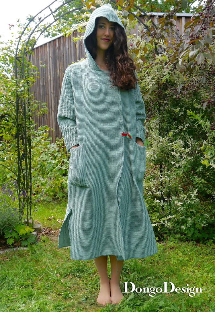 PDF sewing pattern E-Book Bathrobe Spa with instructions
