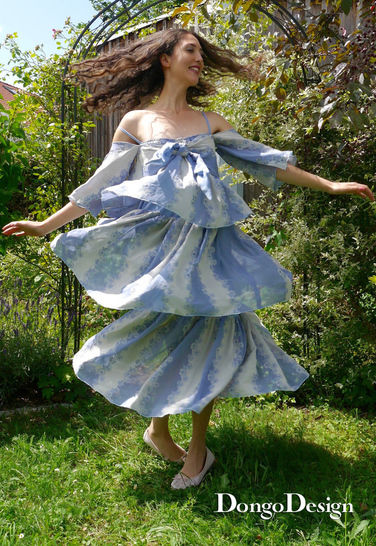 PDF sewing pattern summer dress Paris79 PDF File with E-Book Sewing instructions at Makerist - Image 1