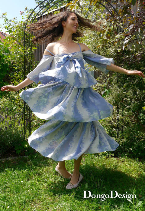 PDF sewing pattern summer dress Paris79 PDF File with E-Book Sewing instructions
