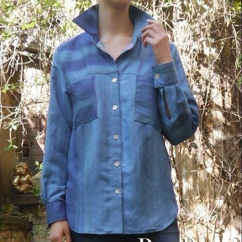 PDF sewing pattern EBook Shirt-blouse with instructions