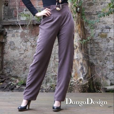 PDF Sewing Pattern Ebook High Waist Pants with instructions
