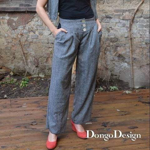 PDF Sewing Pattern Ebook  Retro Trousers with instructions