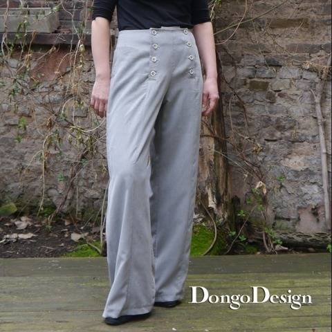 PDF Sewing Pattern Ebook Sailors Pants with instructions