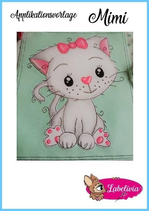 Applikationsvorlage Katze Mimi