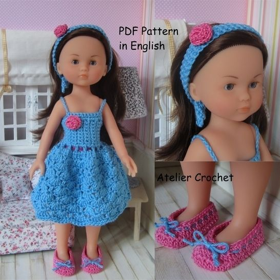 """Chloé"" crochet pattern for Chérie Corolle or Paola Reina Doll at Makerist - Image 1"