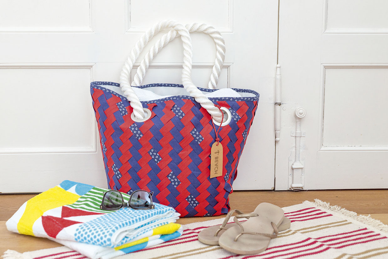 "Gewebte Strandtasche – mit Lehrgang ""Fabric Weaving"""