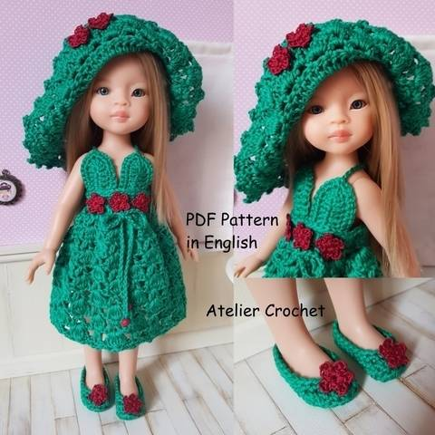 """""""The Queen of Flowers"""" crochet pattern for Paola Reina Doll or Chérie Corolle"""
