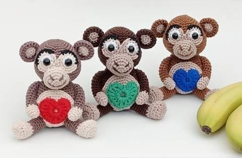 """Häkelanleitung Glücksbringer Affe Äffchen """"Charly"""" bei Makerist"""