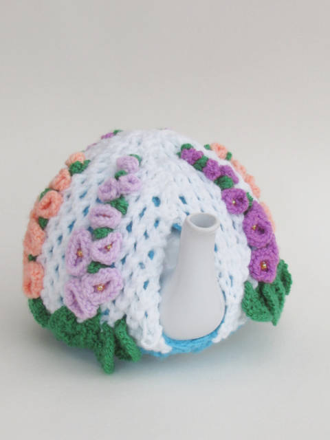 Hollyhock Tea Cosy Knitting Pattern at Makerist