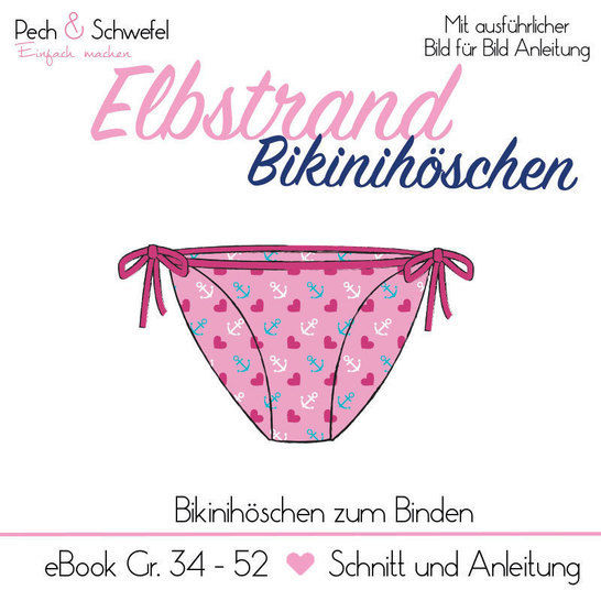 "Ebook ""Elbstrand"" Bikinihöschen Damen Gr. 34 – 52 in A4  bei Makerist - Bild 1"