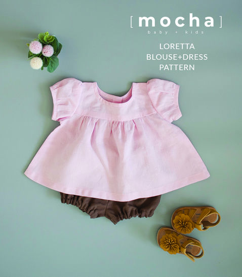 Baby Dress and Blouse Loretta (3M -24M) PDF Pattern (#1592)  at Makerist - Image 1