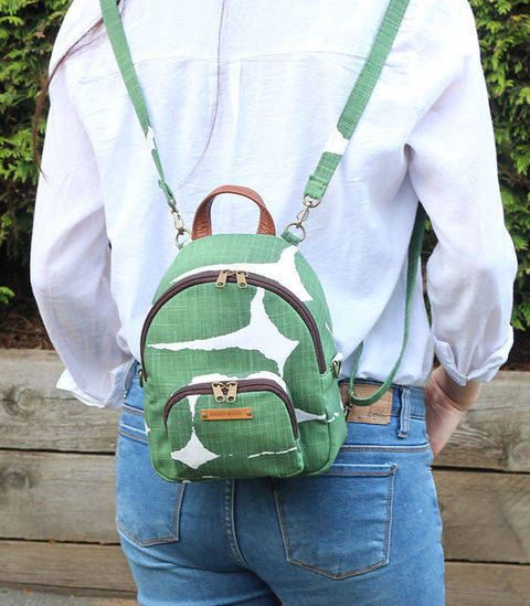 Magali Mini Backpack / Cross Bag PDF Pattern (#1642) at Makerist