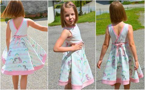 Melly Kinder Drehkleid Gr 86 -164