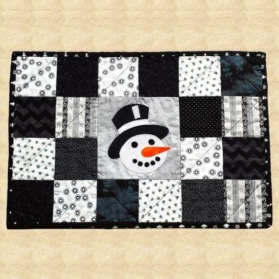Frosty Times Quilted Placemats Pattern at Makerist - Image 1