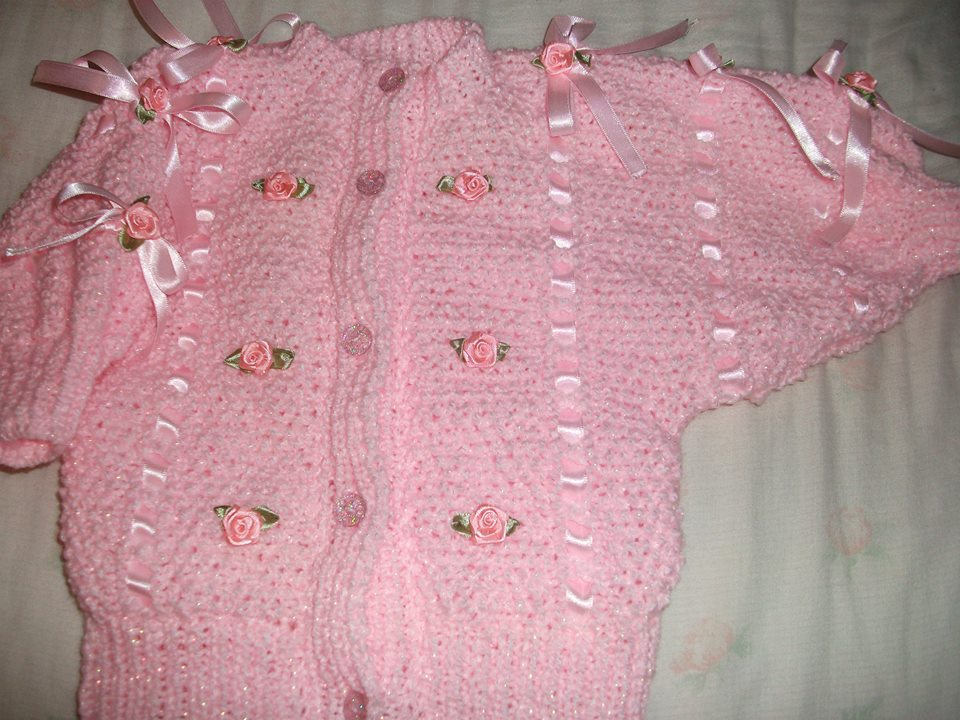 raglan ribbon and roses cardigan