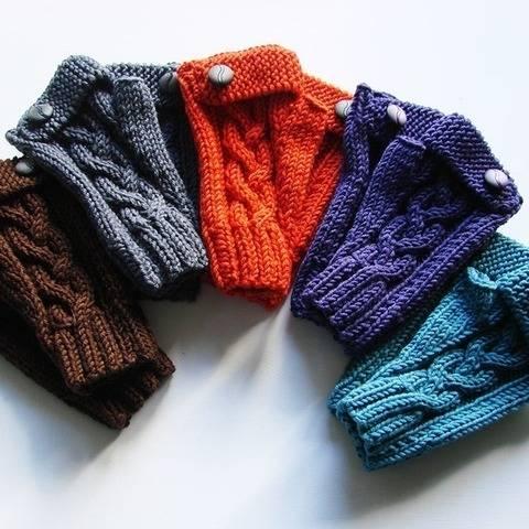 Yaëlle Fingerless gloves -  English tutorial