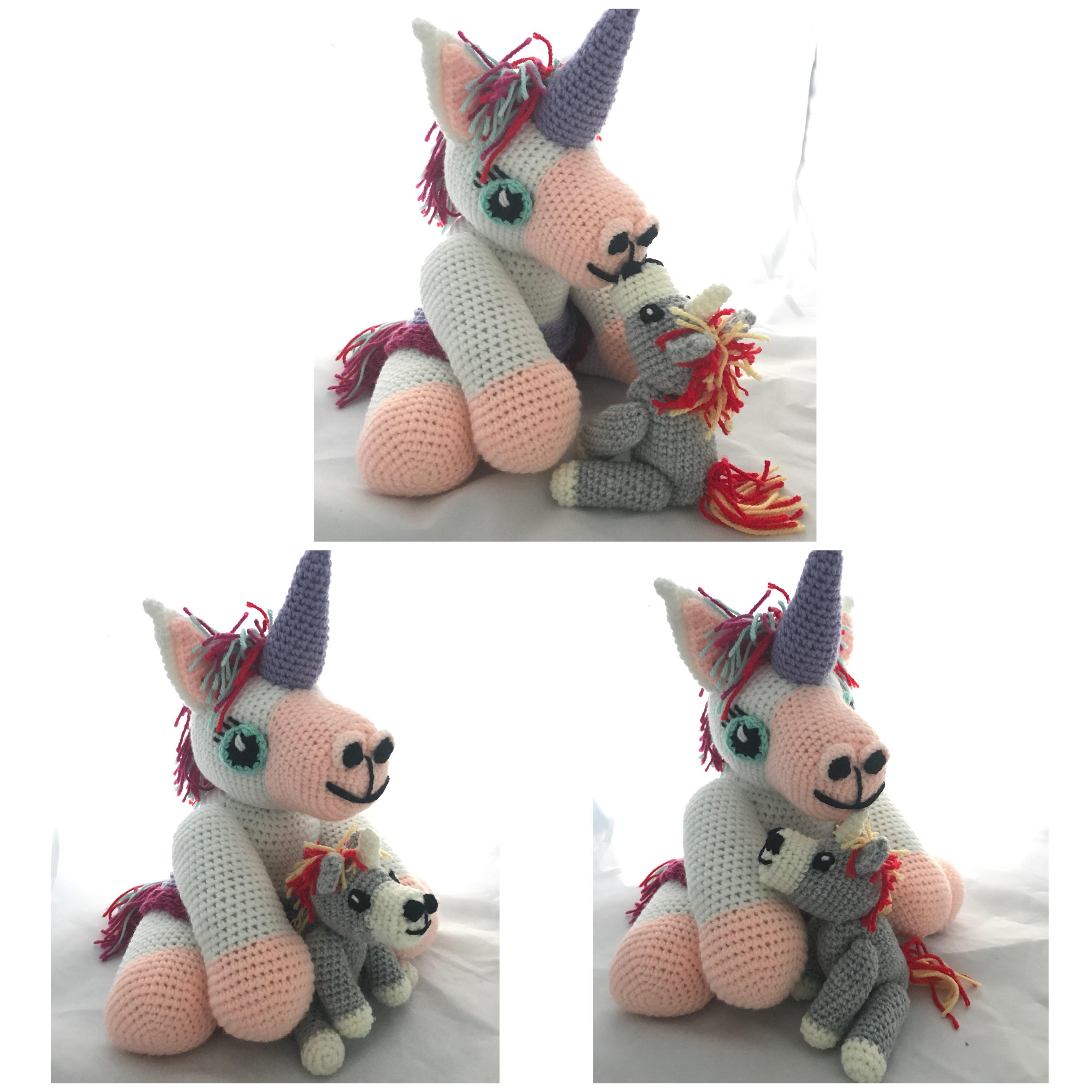 Tuto PDF licorne et son bebe crochet
