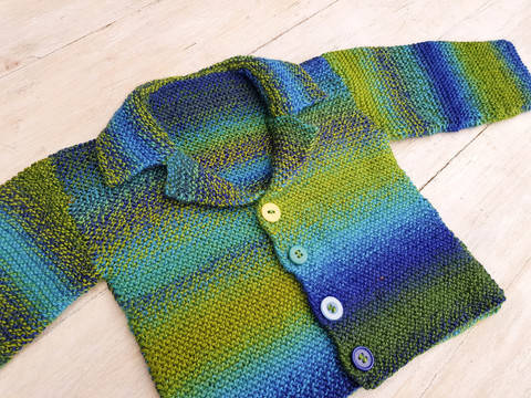 Connor Cardigan, Knitting Pattern for Boys