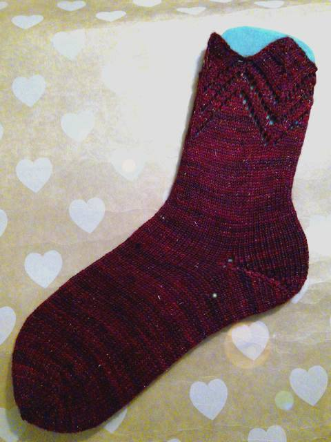 """Socken """"Kronenzacken"""" aus dem Kieler Wolle SockClub Dezember 2017 bei Makerist"""