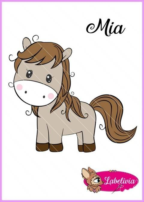 Plotterdatei Pferdchen Mia