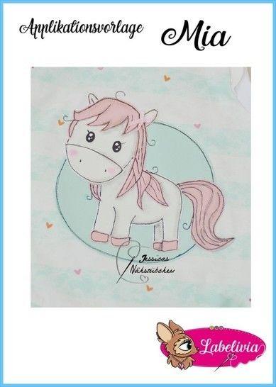 Applikationsvorlage Pferdchen Mia  bei Makerist - Bild 1