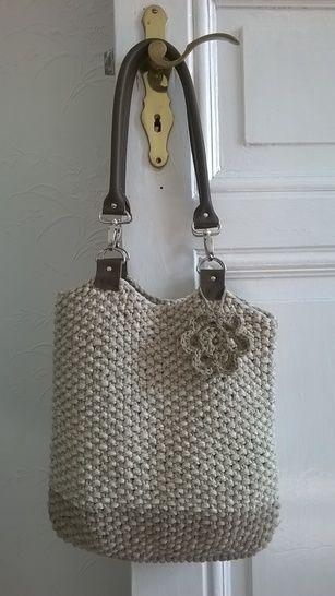 Tasche mit Lederhenkeln bei Makerist - Bild 1