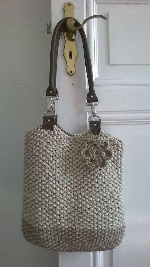 Tasche mit Lederhenkeln bei Makerist