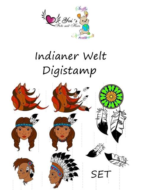 Digistamp - Indianer Welt Set bei Makerist