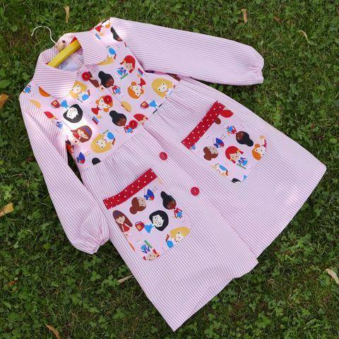 Baby SCHOOL SMOCK PDF Pattern - Back to school - FREE Drawstring Bag at Makerist