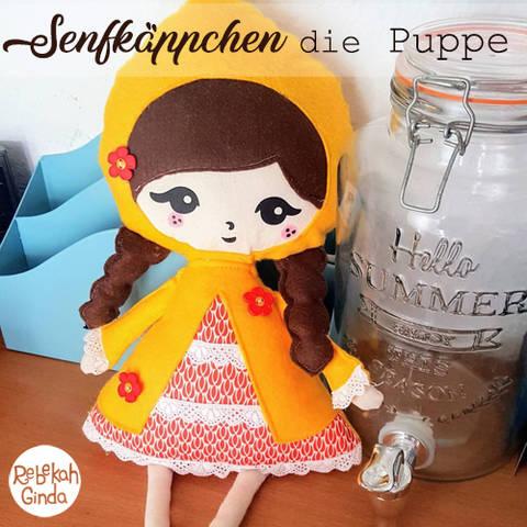 Senfkäppchen als Puppe mit Nähanleitung und Plotterdatei bei Makerist