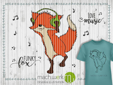 Plotterdatei Funky Fox machwerk bei Makerist
