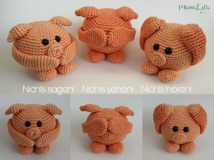 Die 3 Schweinchen - Nichts hören, sehen und sagen  bei Makerist - Bild 1