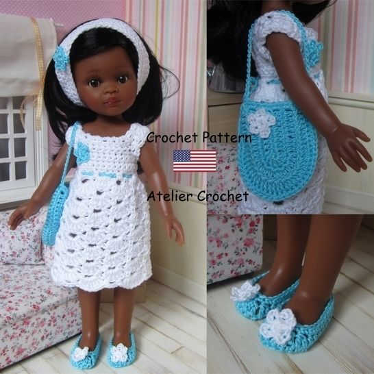 """Dalhia"" crochet pattern for Paola Reina doll at Makerist - Image 1"
